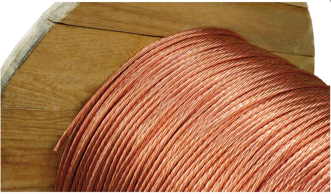 cabo de cobre nu 50mm normatizado - Cabo de Cobre Nu